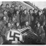 No 4 Commandos with captured flag after Vlissengen.
