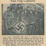 Newspaper article about the Vlissengen captured flag