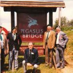 Leslie Finnis, Jock Thursby, Tanky Bryne,Falconer