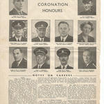 1953 Coronation Honours announcement for Insp. Bissell