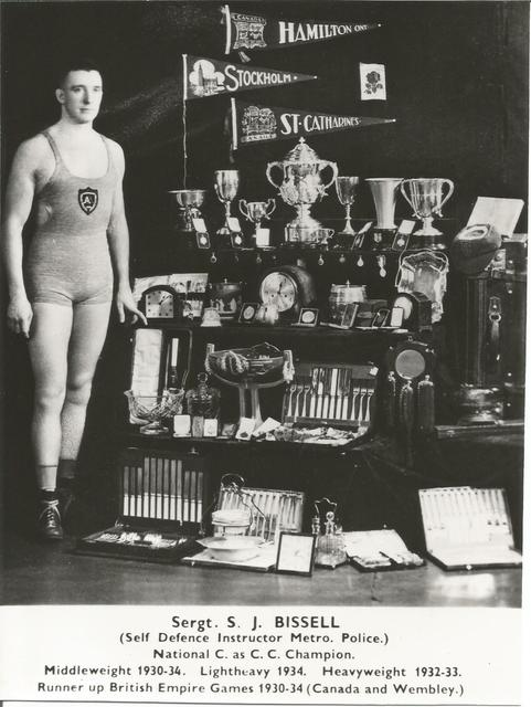 Stan Bissell with his trophy collection