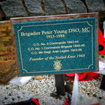 Brigadier Peter Young's Plaque, Memorial Garden, Spean Bridge May 2014