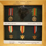 Medal display of Robert McPherson Maughan, No 9 Cdo.