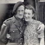 Bob and sister 1945