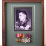 Portrait-Hugh Maines-No1 Commando-Burma-India 1944 plus campaign medals.