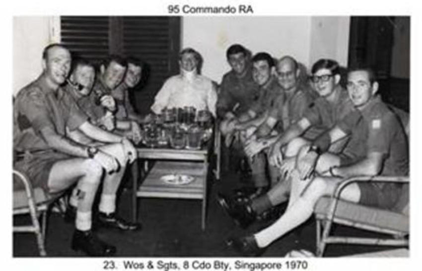 8 Bty Sgts Mess Singapore 1970