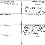 Stanley Bissell diary detailing promotion to SSgt