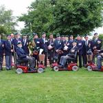 Veterans-group on parade