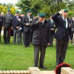 Jack and Joe laying Jacks wreath