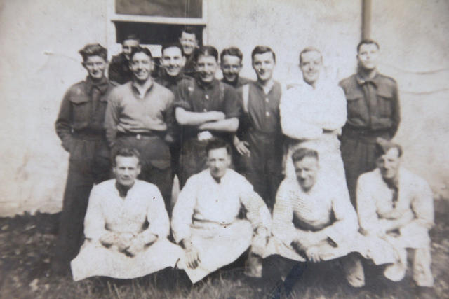 Group possibly POW's at Stalag V111b.