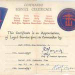 Mne McGeorge - Commando Service Certificate
