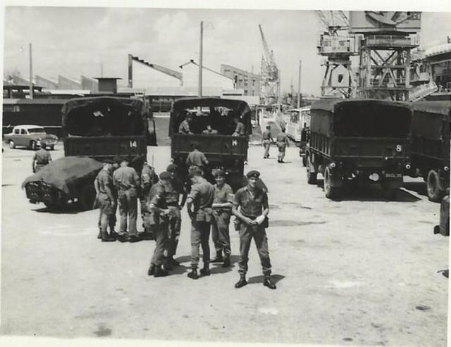 About to embark on HMS Bulwark in Singapore for Aden 1965.