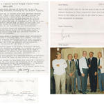 Nos 1 & 2 Cdo Bde Sigs reunion 11th July 1988 photo and letter