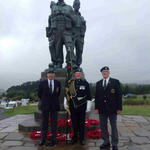 Joe, Fred and Gerry at the Memorial  30th August 2014