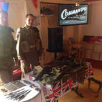 Paul and Mike at their display at the Caol Community Centre after the Service