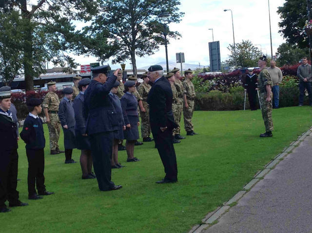 Joe Murtagh inspects the Cadets