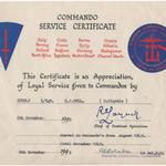 Commando Service Certificate for L/Sgt Bull, 2 Cdo Bde Sigs.