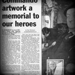 Lincolnshire Echo newspaper report on the plans for the memorial at Alrewas