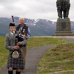 Planting ceremony for the plaque at Spean Bridge 27th June 2014