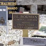 Plaque for J.L. Bouman, No.10(IA) Cdo 2 troop