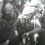 Lt Thomas Turton RNVR and others in an LCA during Exercise Shallufa, HMS Saunders at Kabrit (Kasferit) Suez, November 1943.
