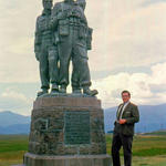 Reverend Gordon 1968 at the Commando Memorial, Spean Bridge