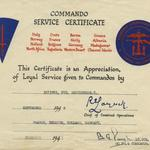 Commando Certificate for Pte Thomas McGuinness, No 4 Cdo.