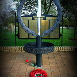 Alrewas memorial & CVA wreath Remembrance day 2014