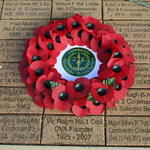 CVA Wreath Alrewas Remembrance Day 2014
