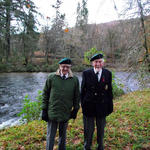 No 2 Commandos John Morris and Eric Buckmaster back at Achnacarry Nov 8th 2014