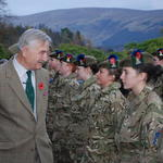 Brigadier Jack thomas inspecting Army cadets