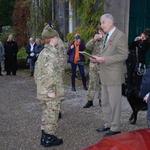 Brigadier Thomas presenting the award to the winning cadet