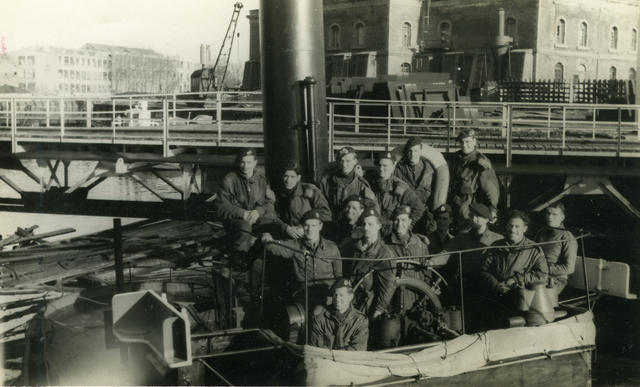 No 4 Cdos on captured ship at Flushing (2)