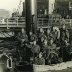 No 4 Cdos on captured ship at Flushing (2)