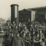 No 4 Cdos on captured ship at Flushing (1)