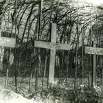 Original graves of Cpl Maybury and LAC Canning