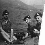 Allan Jameson (left) and 2 others from No 5 Commando