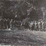 No5 Commando at burial service