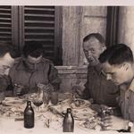 Lt Donald Long MC, Captain Bill Carrie, Lt Angus Ferguson, Villa Borghese, Rome May 1945