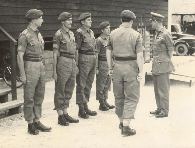 "George ""Jock"" Donnelly being presented to Duke of Edinburgh"