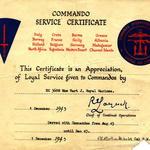 Commando Service Certificate for Mne John Henry 'Jack' Hart