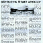 Alderney Press cutting re loss of HMS Affray
