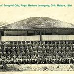 40 Commando, RM, 'A' troop, Lenngong, Grik, Malaya, 1950