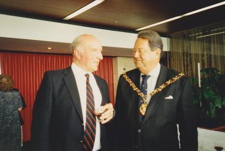 Bing Crosbie with the Lord Mayor of Perth