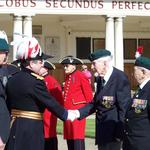 The Reviewing Officer is introduced to Eric Buckmaster No 2 Cdo