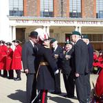 The Reviewing Officer asks Brigadier Thomas what Commando he served in.