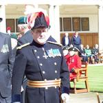 Ooops! The Major General spots someone wearing an RAF cap badge on his parade...