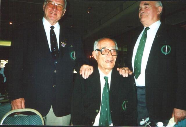 Roy Suzuki (centre) and 2 others, Normandy 50 years on, 1994