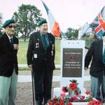 Roy Suzuki, Harold Nethersole (centre), and Harry Ritter (right), 2004, Normandy