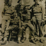 Raymond Craddock (sitting lowest) and others from No 2 Commando